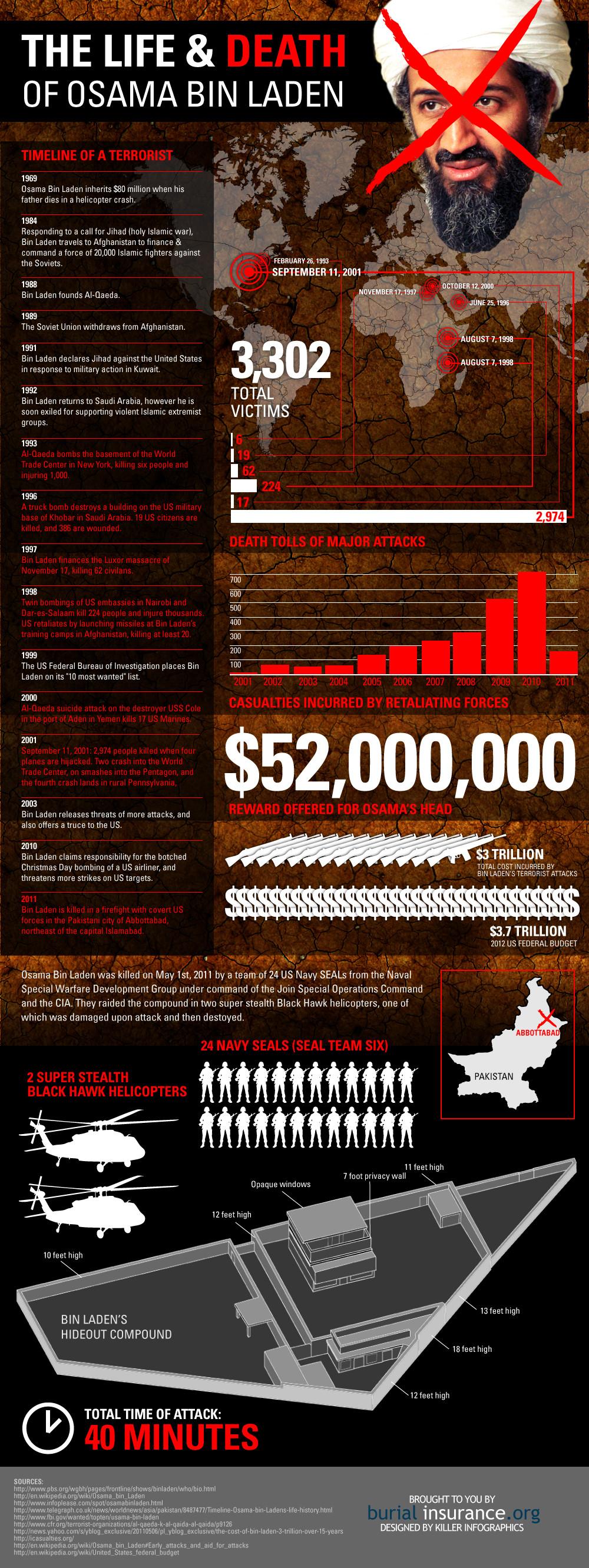 Osama Bin Laden Raid Infographic